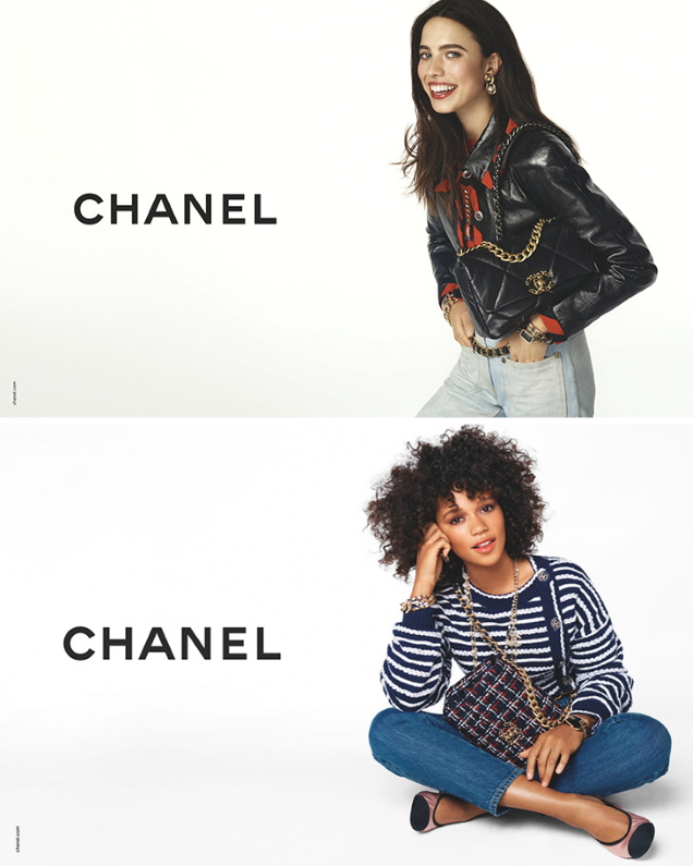 Chanel S / S 2020 handbags: Marine Vacth, Margaret Qualley and Taylor Russell by Steven Meisel