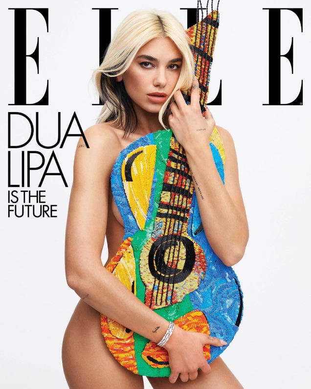 US Elle May 2020 : Dua Lipa by Zoey Grossman