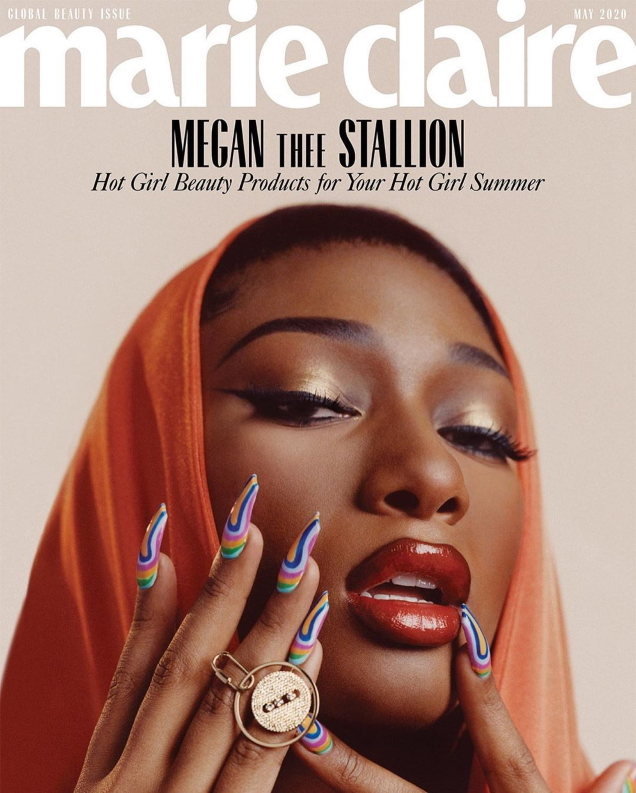 US Marie Claire May 2020 : Megan Thee Stallion by Micaiah Carter