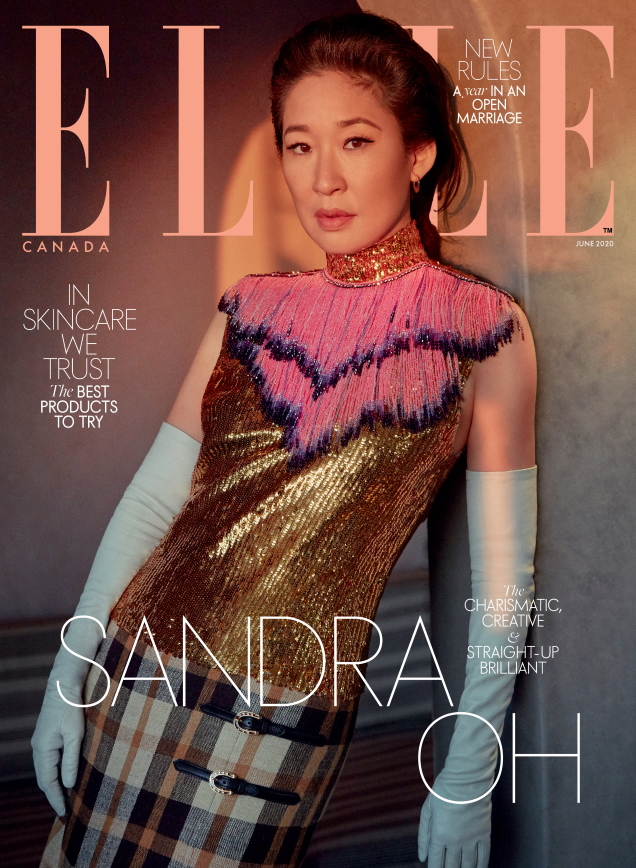 Elle Canada June 2020 : Sandra Oh by Greg Swales