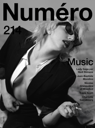 Numéro #214 June/July 2020 : Lady Gaga by Hedi Slimane