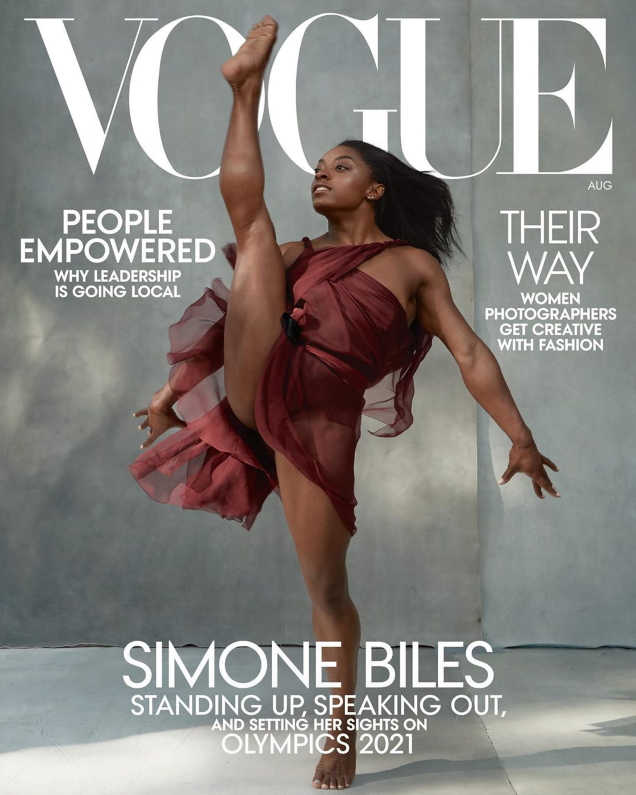 US Vogue August 2020: Simone Biles by Annie Leibovitz