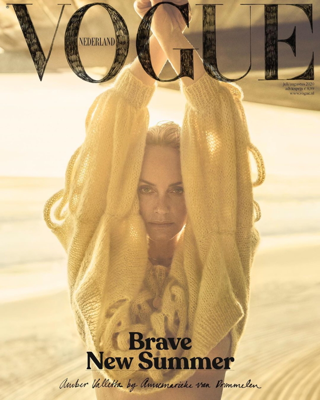 Vogue Netherlands July/August 2020 : Amber Valletta by Annemarieke van Drimmelen