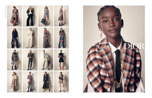 Christian Dior F/W 2020.21 : Maty, Selena, Estelle, Maryel & Felice by Paola Mattioli