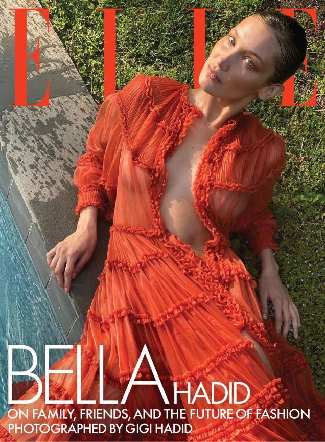 US Elle August 2020 : Bella Hadid by Gigi Hadid