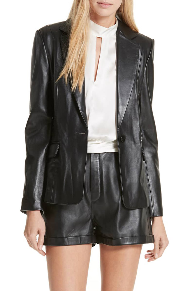 A Blazer, but Make It Leather