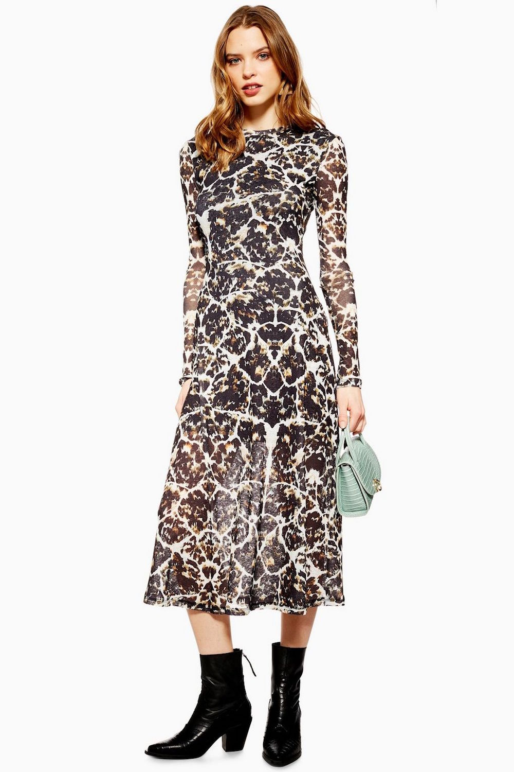 Topshop  10 Versatile Dresses That Will Take You From Work to Play Topshop Tortoiseshell Mesh Dress
