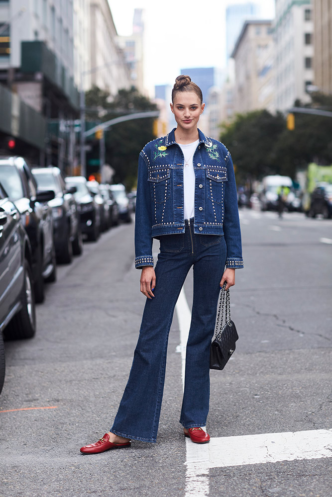 13 Jean Jacket Outfits For The In Between Season And Beyond