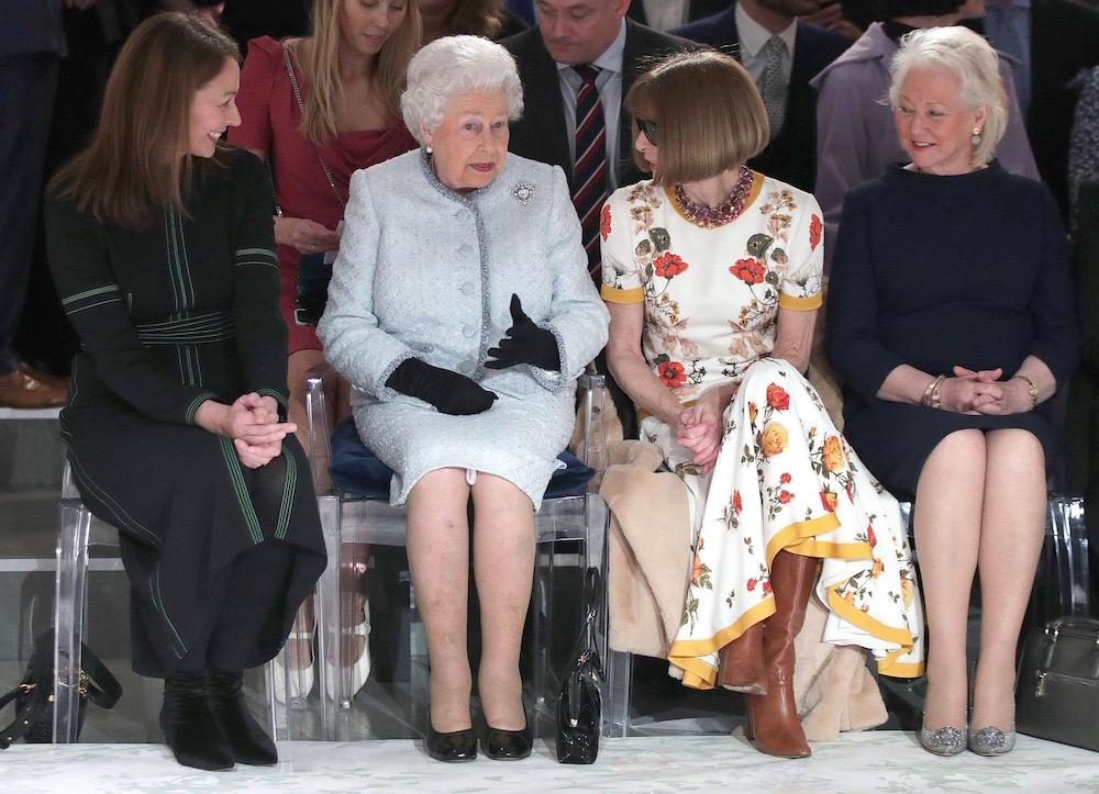 The Queen Attends Richard Quinn's Show