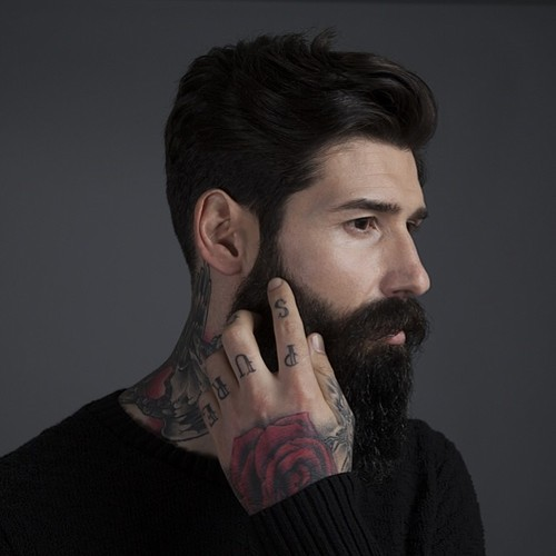 Admirable 30 Male Models With Beards Thefashionspot Natural Hairstyles Runnerswayorg