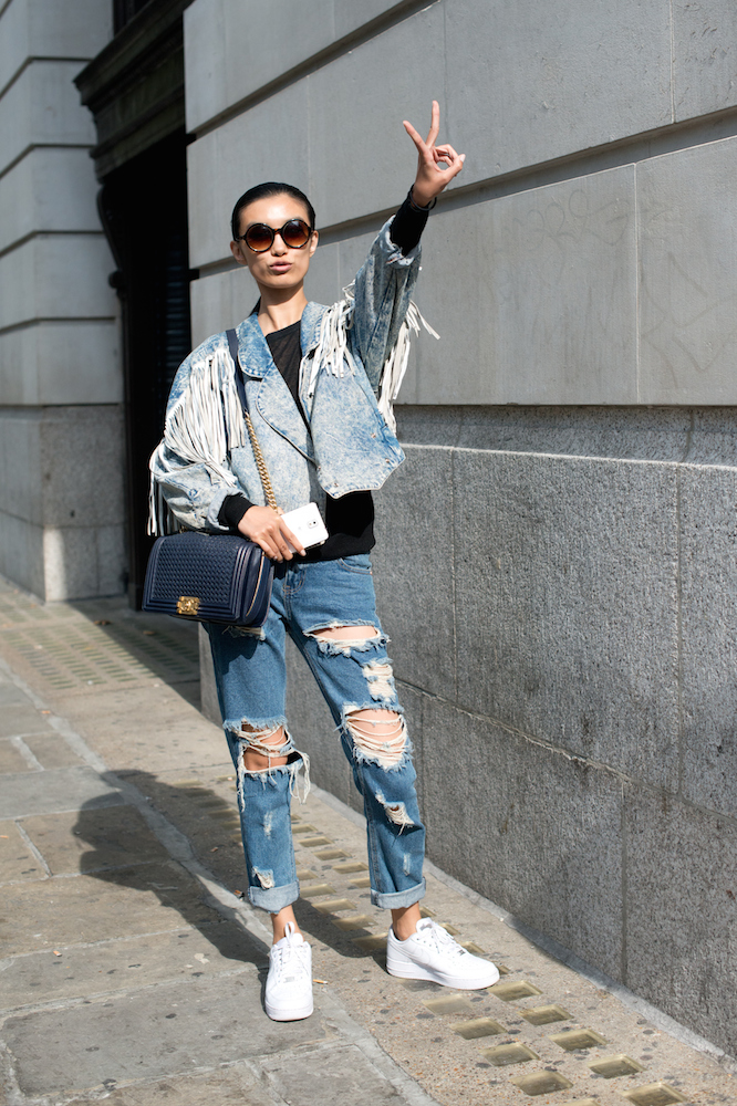 8 Diy Ways To Upgrade Your Denim Jacket For Fall Thefashionspot