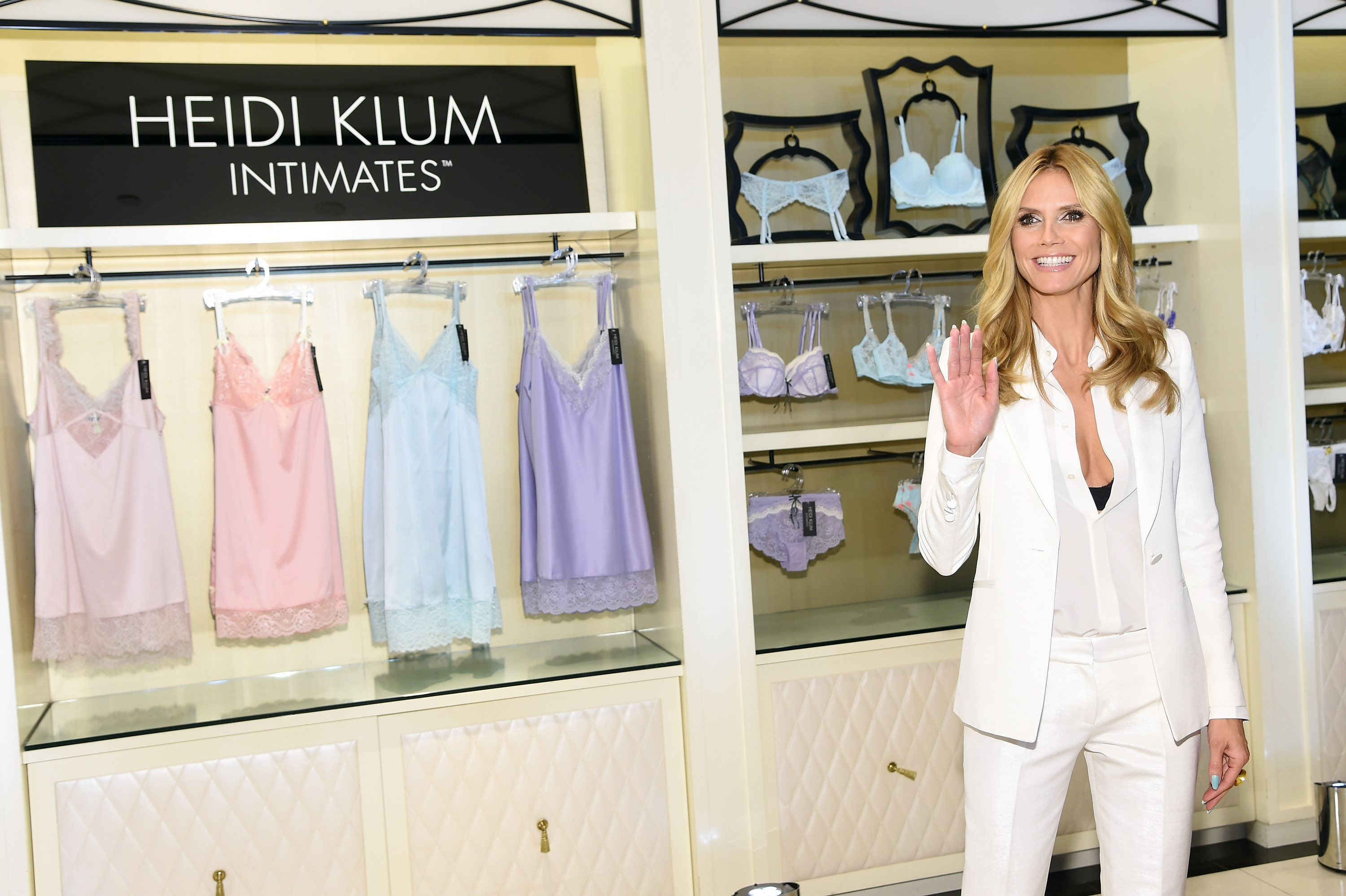 Heidi Klum Nails It with Her First Lingerie Collection - theFashionSpot 3fde1f550