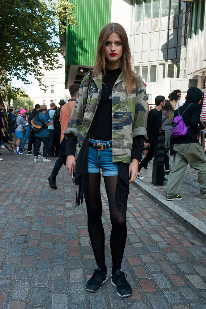 be4f7e4b6d How to Wear Jean Shorts in the Fall Without Freezing Your Butt Off. Heather  Cichowski. 0 0 0. Polished and Pretty. Hoods Up. Camo Denim