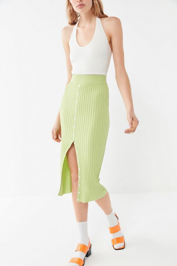 Urban Outfitters  27 Midi Skirts You Need in Your Closet ASAP UO Grassy Ribbed