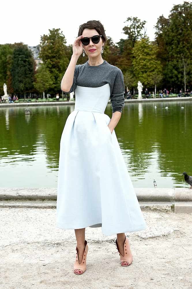 954fe7577441b A Guide to Wearing Shirts Under Dresses This Season - theFashionSpot