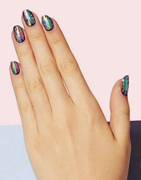 Technicolor Nails - 11 Cute Nail Designs To Up Your Nail Art Game - TheFashionSpot