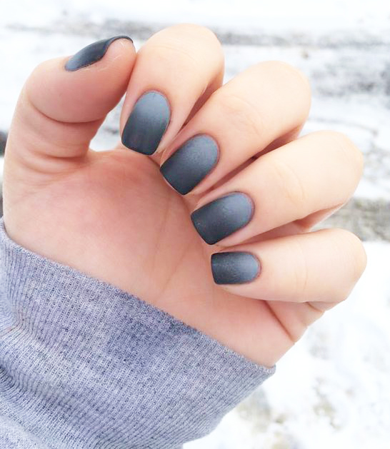 Gray Gradient Nails - 11 Cute Nail Designs To Up Your Nail Art Game - TheFashionSpot