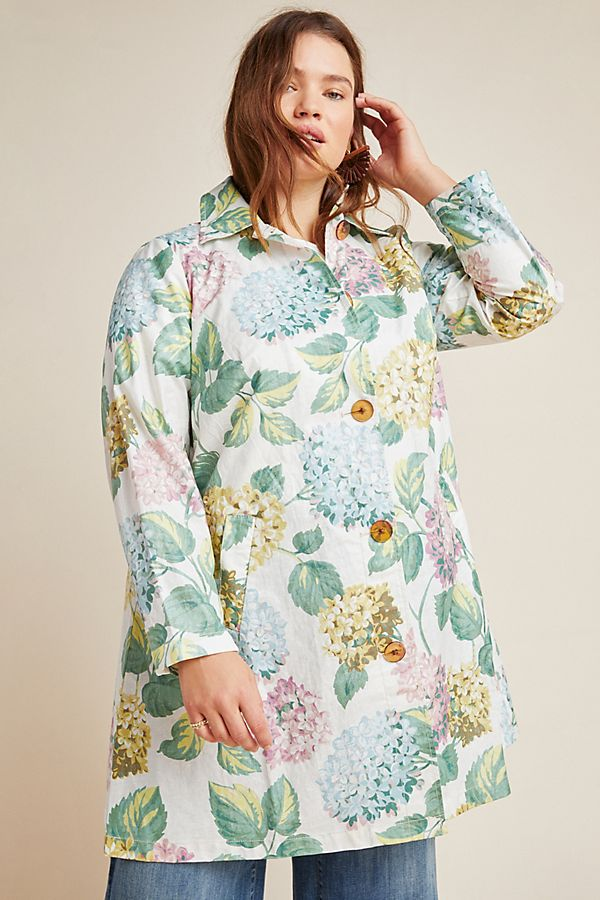 Anthropologie  The Most Unpredictable Spring Trends to Add to Your Closet Anthropologie Hydrangea Coat
